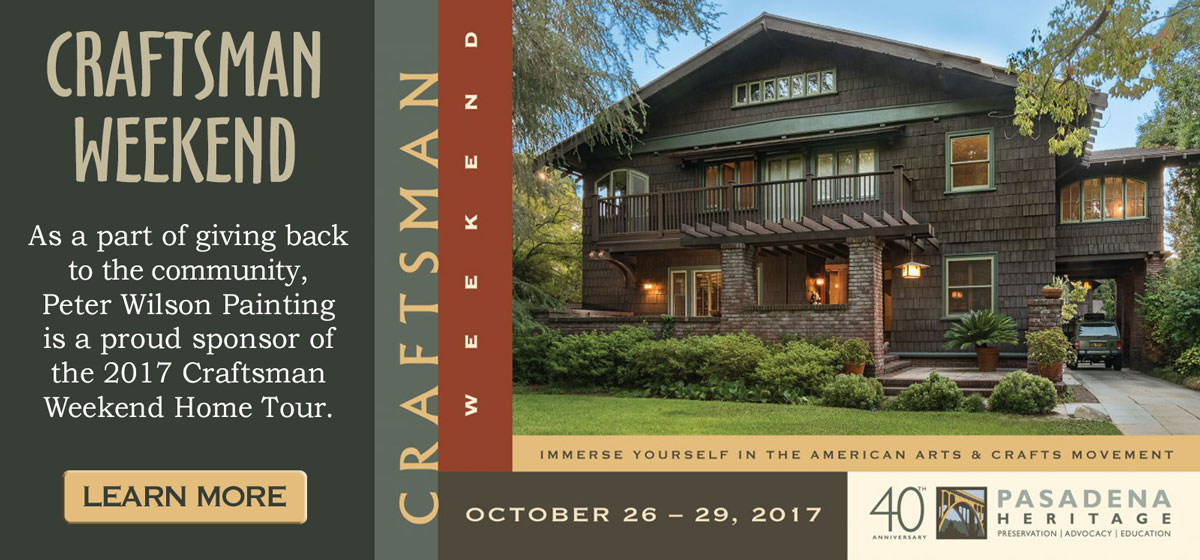 Pasadena Heritage Craftsman Weekend